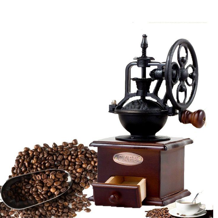 楽楽一 コーヒーミル 手挽きコーヒーミル 伝統工芸 贈り物 木製 アンティーク風 コーヒー豆 ハンドミル 珈琲ミル