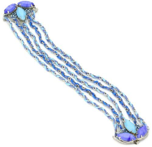 """Suzanna Dai """"Rio de Janiero"""" Thread-Wrapped Medallion Friendship Blue Bracelet Suzanna Dai. $138.00. Items that are handmade may vary in size, shape and color. Made in India"""