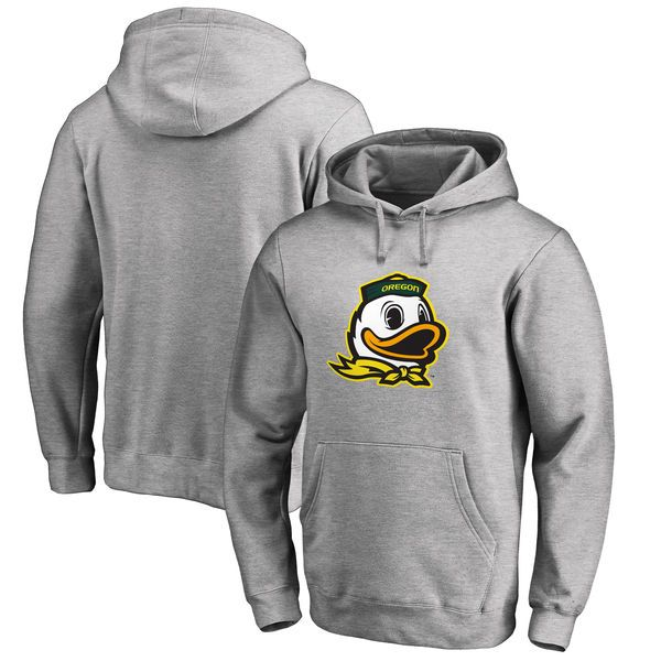 Oregon Ducks Fanatics Branded Big & Tall Primary Team Logo Pullover Hoodie - Heathered Gray - $49.99