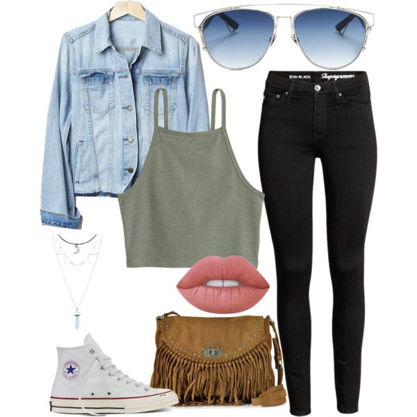 Fall chill outfit by womack470 on Polyvore featuring Gap, Converse, Zadig &…