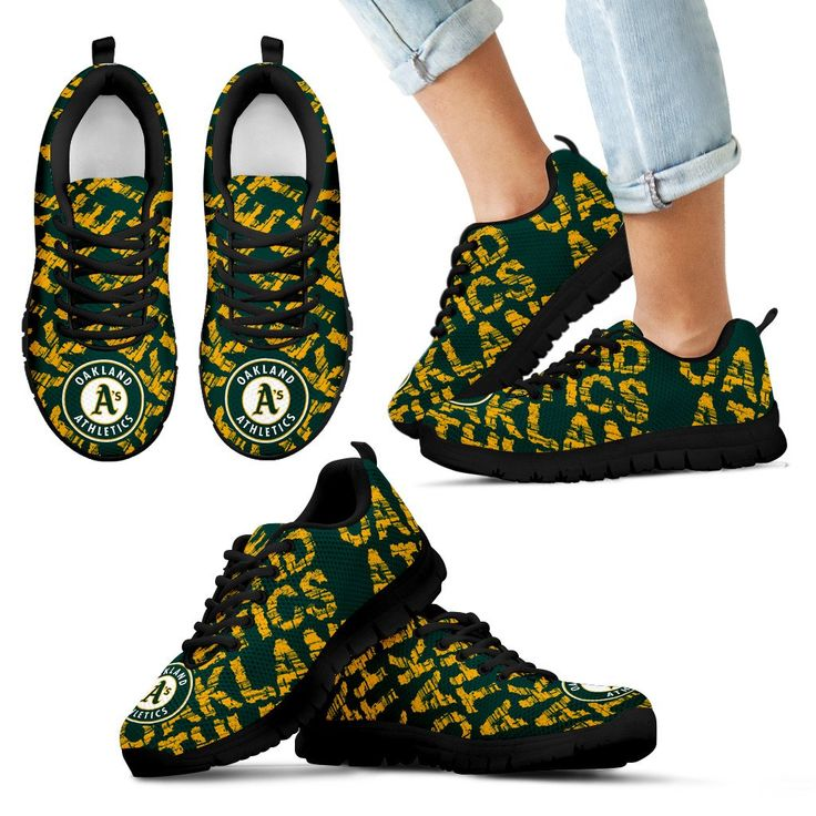Vintage Logo Beautiful Oakland Athletics Sneakers V2 – Best Funny Store