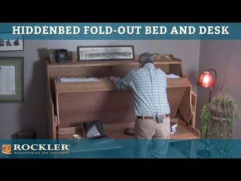 Hiddenbed Fold-Out Bed and Desk Mechanism