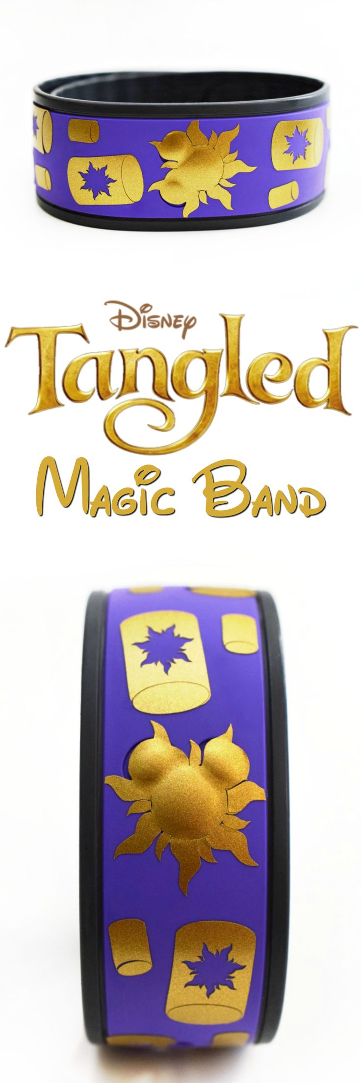 Grab your Silhouette and some gold vinyl to create a fun Tangled Magic Band!