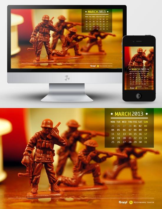 Wallpaper Calendar of March 2013