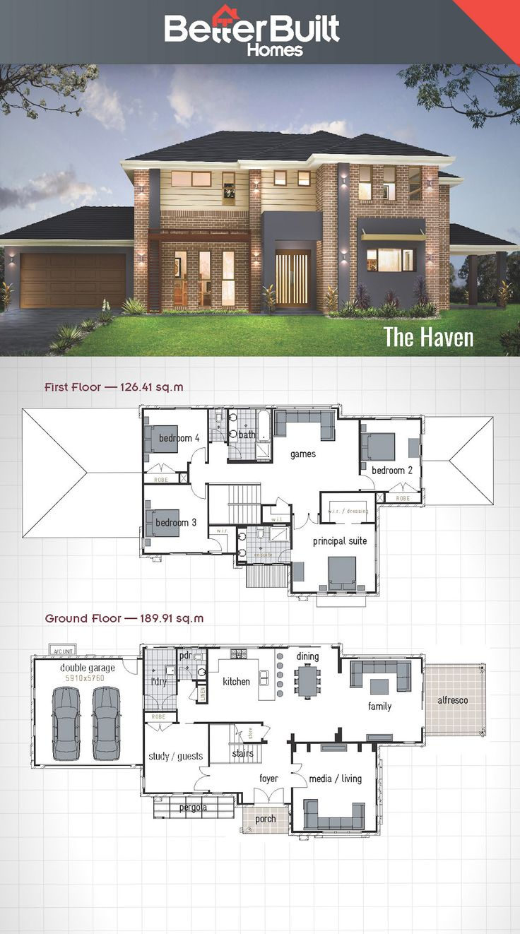 House design first floor - The Haven Double Storey House Design Betterbuilt Floorplans