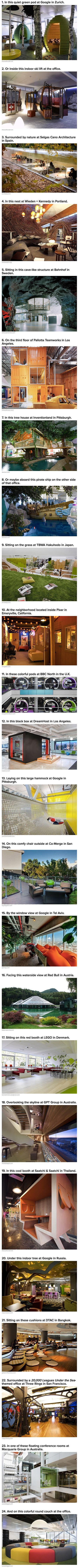 Here are some amazing offices and workplaces that think outside the box.