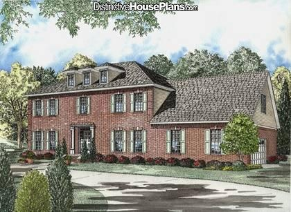 Colonial Style House Plans   3099 Square Foot Home , 2 Story, 4 Bedroom And  3 Bath, 2 Garage Stalls By Monster House Plans   Plan
