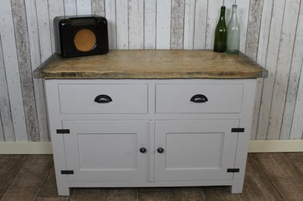 A fantastic new addition to our large range of bespoke and painted furniture. This useful sideboard with two drawers and two cupboards features one internal shelf, and a rustic industrial style top. - See more at: http://www.peppermillantiques.com/industrial-style-sideboard-cupboards/#sthash.pDqzGX5l.dpuf