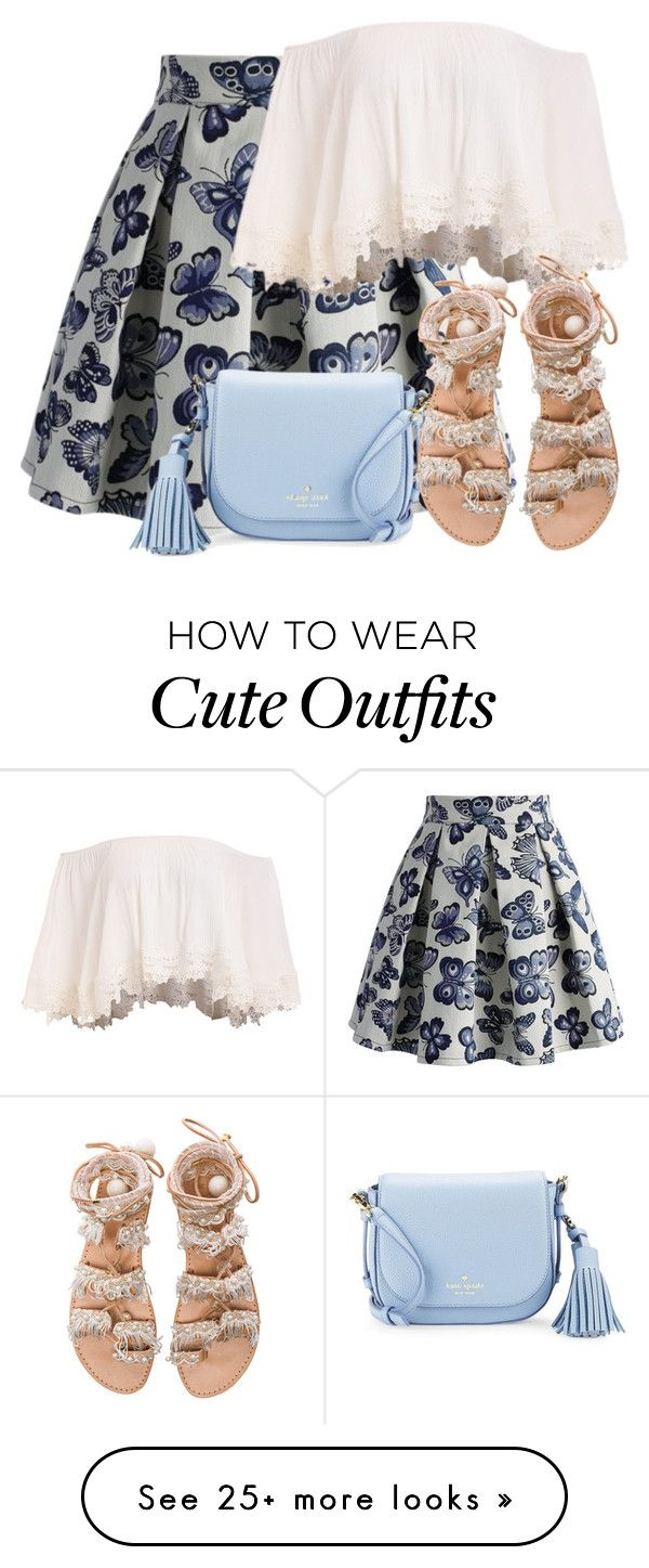 """""""Cute Sandals"""" by lbite on Polyvore featuring Chicwish, Kate Spade and Elina Linardaki"""