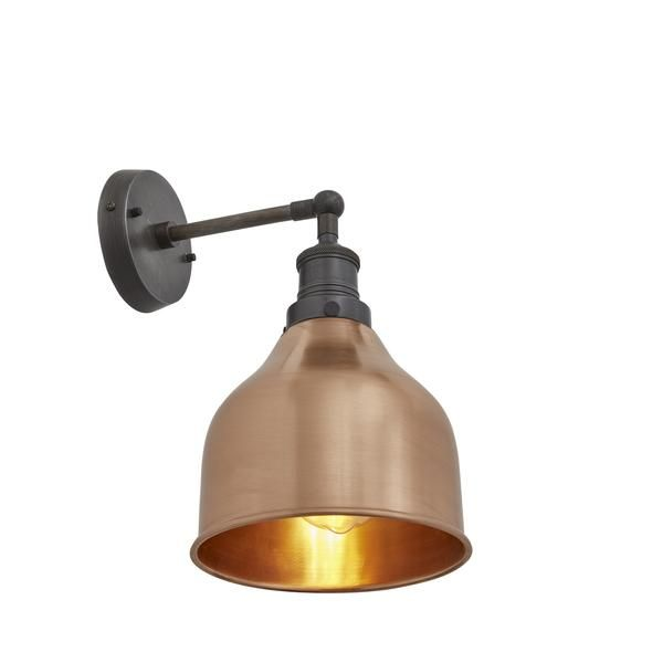 £89 Brooklyn Vintage Antique Sconce Wall Lamp - Cone - Copper - 7 inch