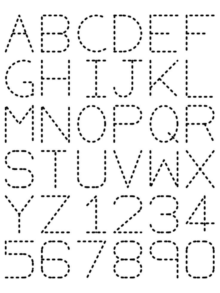preschool printout | Traceable Alphabet Nuttin' But Preschool