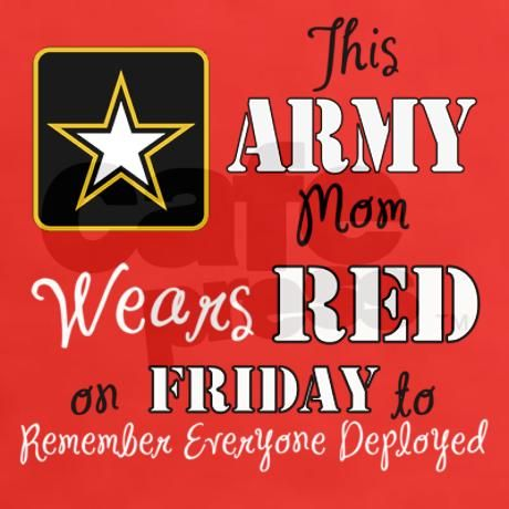 Red Friday Army MOM T-Shirt on CafePress.com #military