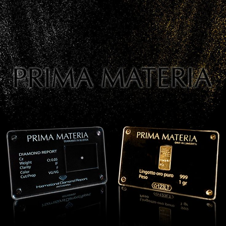 Prima Materia - Oro in lingotti e diamanti in blister Scopri le collezioni su https://pesolapreziosi.itcportale.it