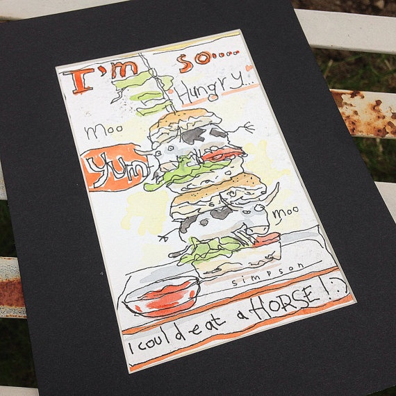 Cowburger. on Etsy, 100,00 €