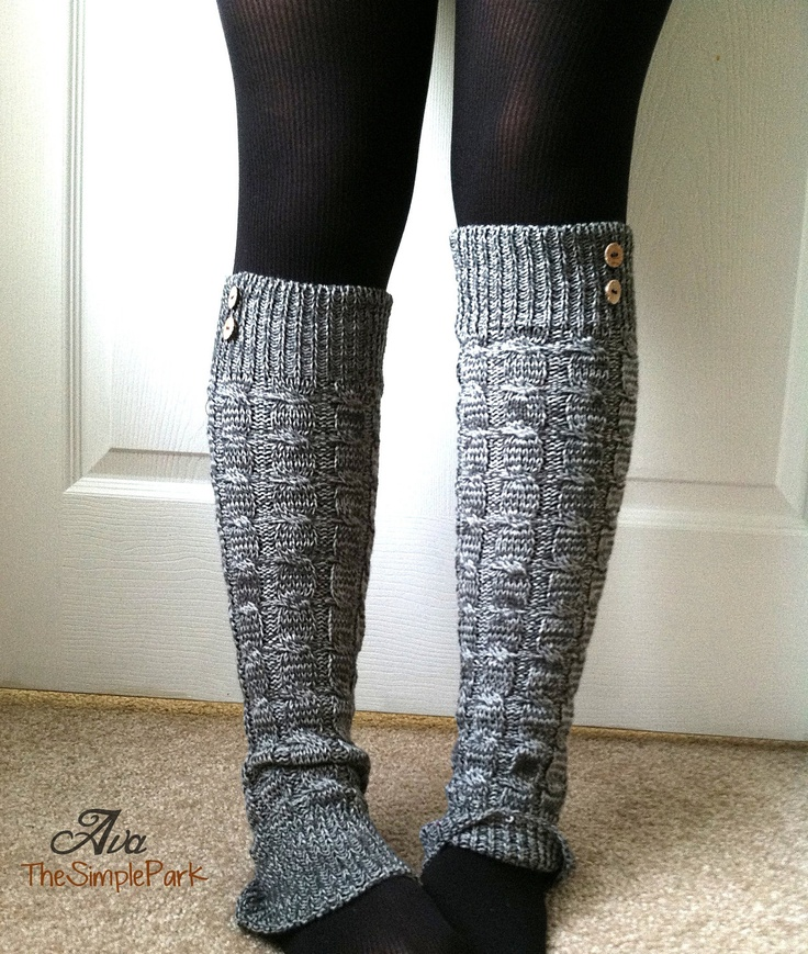 Ava Leg Warmers Cable Knit Legwarmers Grey Leg by TheSimplePark, $17.00