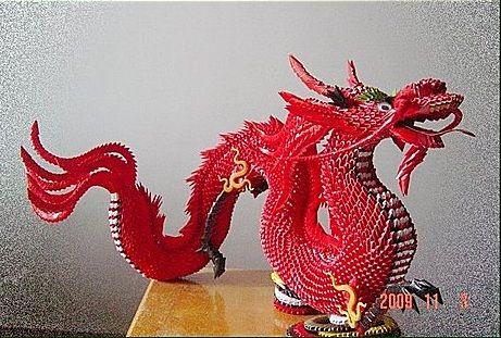 intricate 3d origami dragon 3d origami pinterest