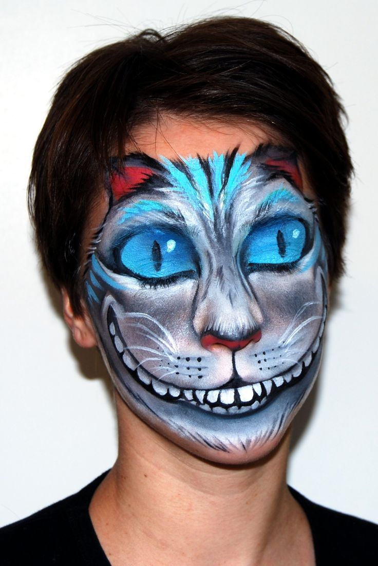 I want to try this without the monster mouth, but with a cat's mouth.: Cat Mouths, Art Illustrations, Maiwen Deviantart Com, Alice Theme, Face Paintings, Cheshire Cat Body Paintings, Faces Paintings, Faces Body Paintings, Cat Faces