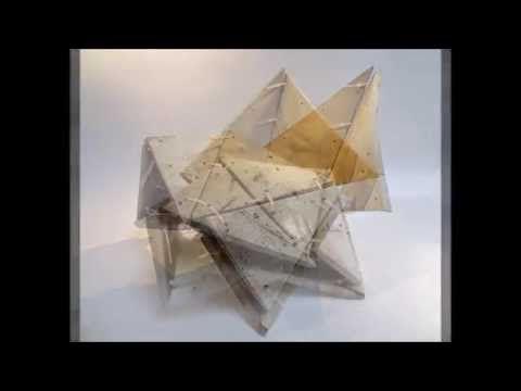 De triangles assembles II, by Philippe Chesneau, raku, Dimensions variables moyenne environ L 48 x H 16 x P 25 cm
