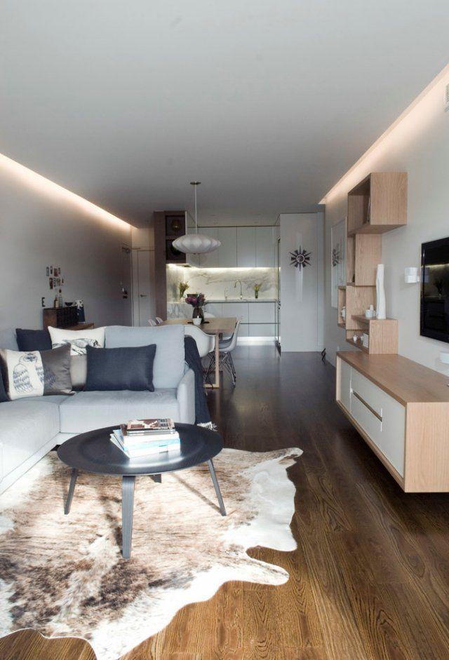 petit-salon-moderne-éclairage-LED-indirect-corniche