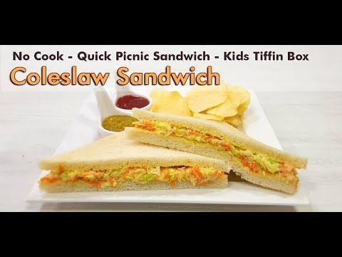 Coleslaw Sandwich कोलस्लॉ सॅन्डविच | Cold Quick Pi…