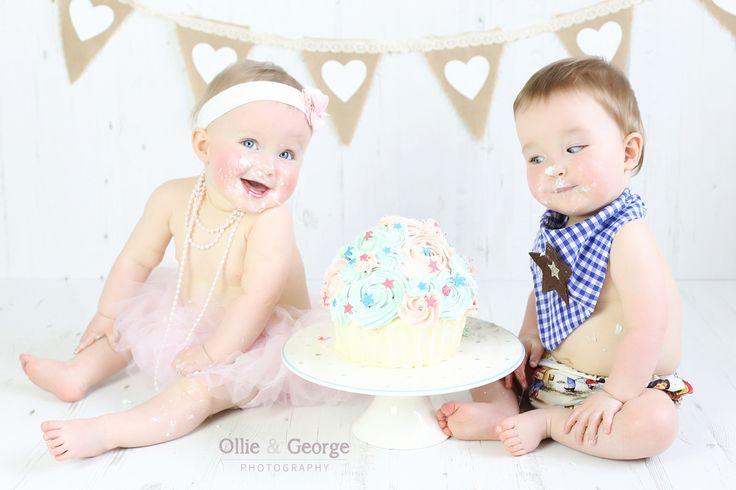 super cute twin cake smash session