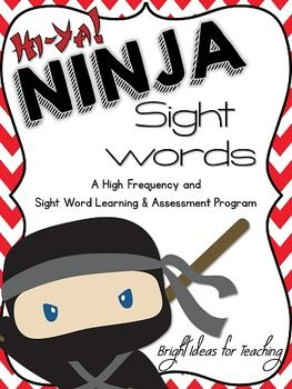 "Teaching and assessing sight words doesn't have to be a chore! Motivate your students with Ninja Sight Words! Students will love passing each ""belt"" of words. Each list of words (belt) is color coded. Each belt contains 15 words and goes from white belt up to NINJA level."