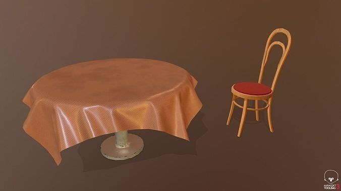 Free Table And Chair Models High And Low Poly Included For More