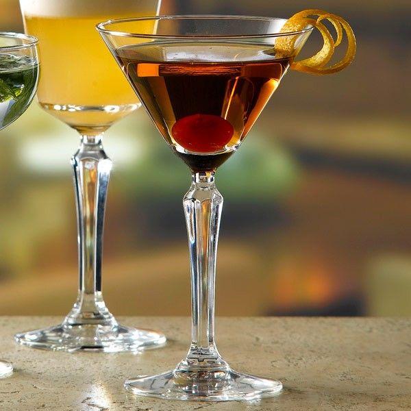 Σετ 6 τεμάχια ποτήρια για μαρτίνι , vintage, από τη σειρά Speak Easy του Libbey. Χωρητικότητα: 190ml, Διαστάσεις: Y 16.4cm Δ 9.9cm
