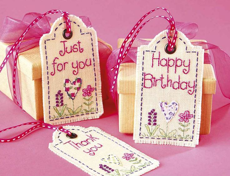 TREASURE TAGS - Available in Cross Stitch Collection 246