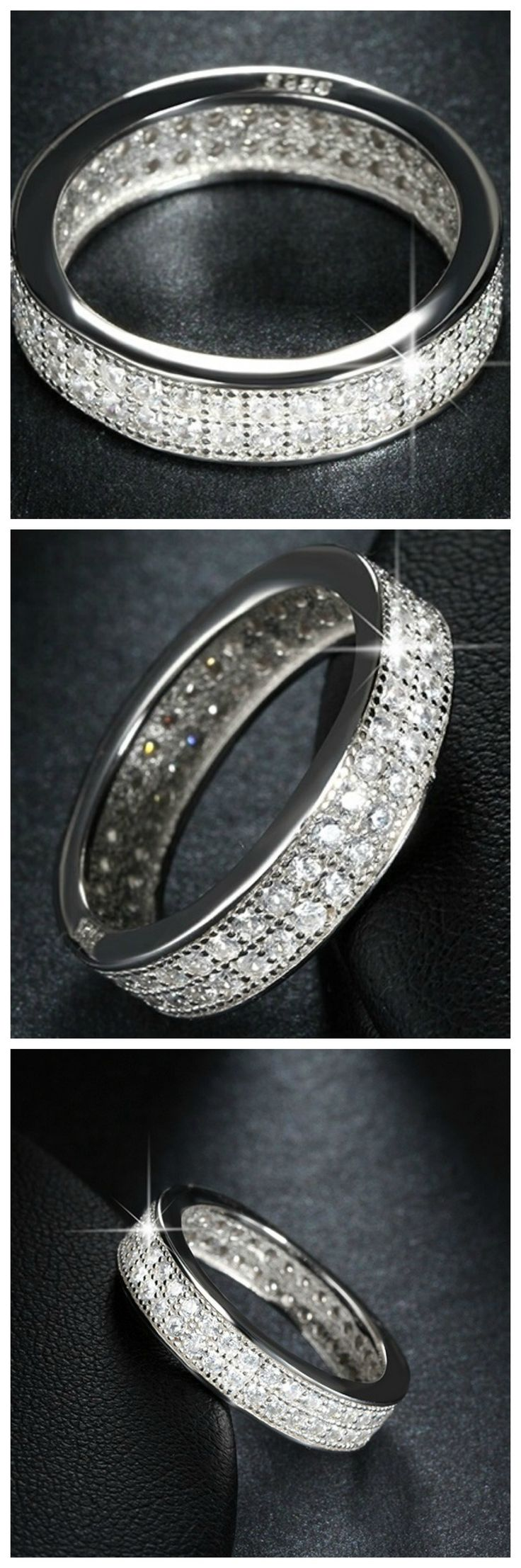 Ziphlets pave eternity ring. Get 10% off with the code ZIPHLETS10