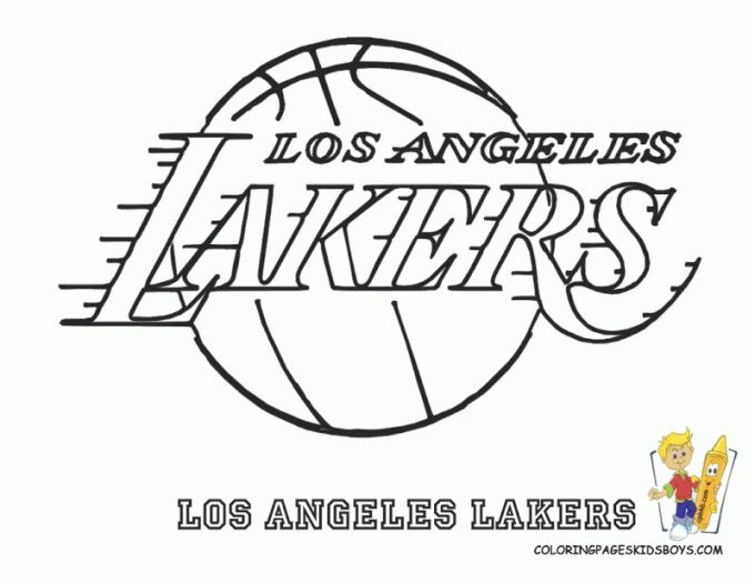 Image Result For Los Angeles Lakers Coloring Pages Sports Coloring Pages Lakers Lakers Logo
