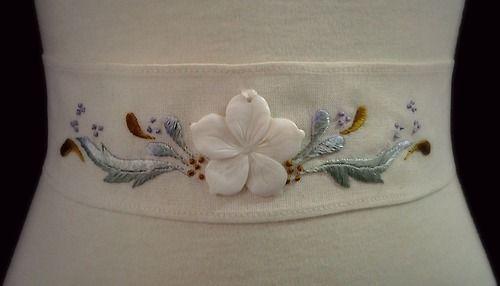 Lovely Bride. Embroidery sample for a vintage wedding dress. Mersand Studio
