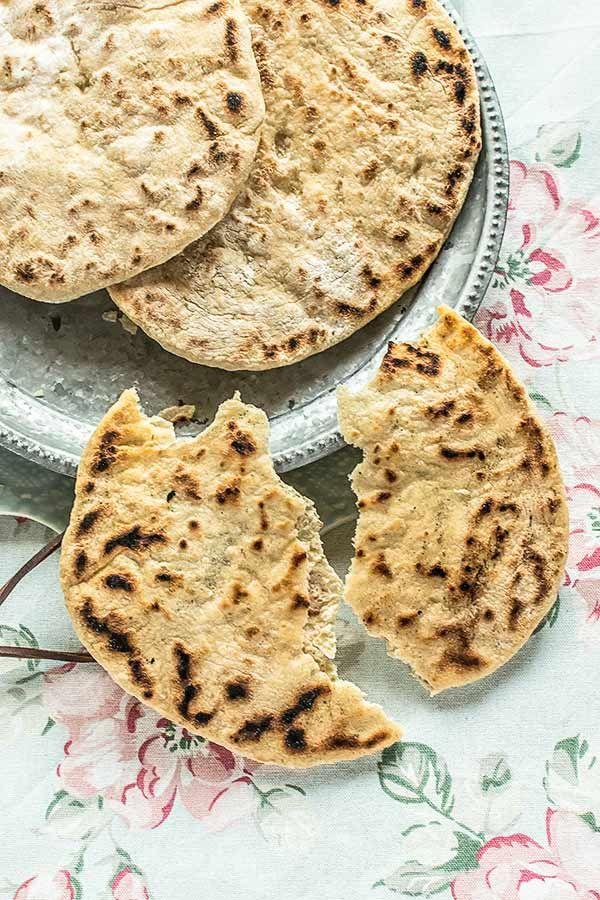Pan de ajo en sartén