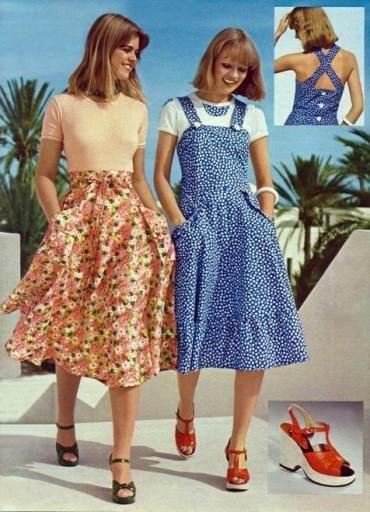Мода 60 70 фото платье