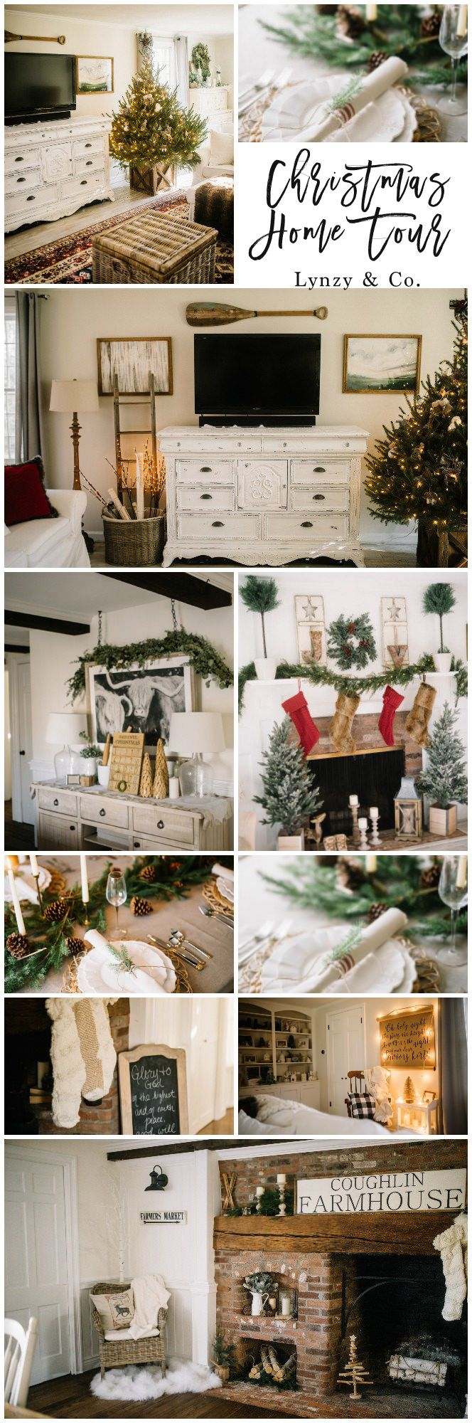 Our Christmas Home Tour // Lynzy & Co. // How to Decorate Your Home for Christmas