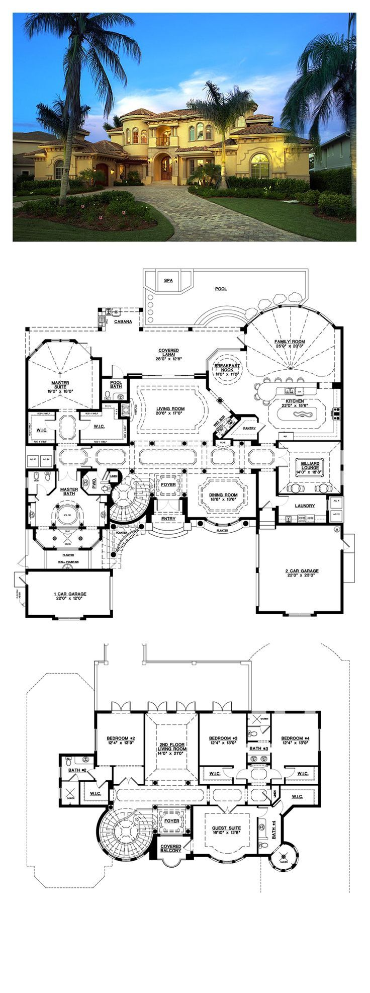 Florida Style COOL House Plan ID: chp-53040 | Total Living Area: 6045 sq. ft., 5… – Florida Style COOL House Plan ID: chp-53040 | Total Living Area: 6045 sq. ft., 5…