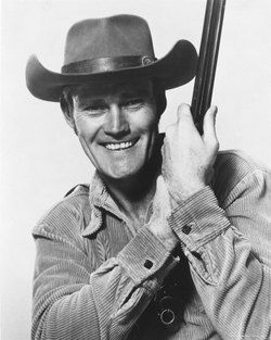 """The 6'5"""" Chuck Connors was menacing as Tom Moore in Roots, but he had a successful career as TV's The Rifleman."""