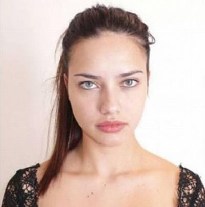 Adriana Lima, without photoshop and makeup.