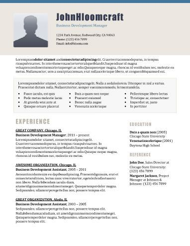 7 best resume images on Pinterest Resume templates, Cv template - business development assistant sample resume