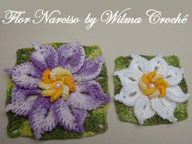 Flor Narciso - Por Wilma Crochê