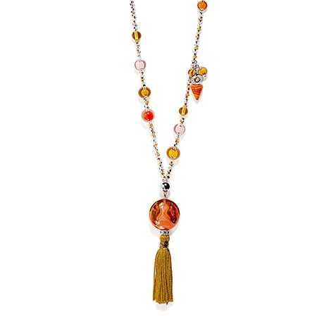 Dada 3 decorated glass beads necklace