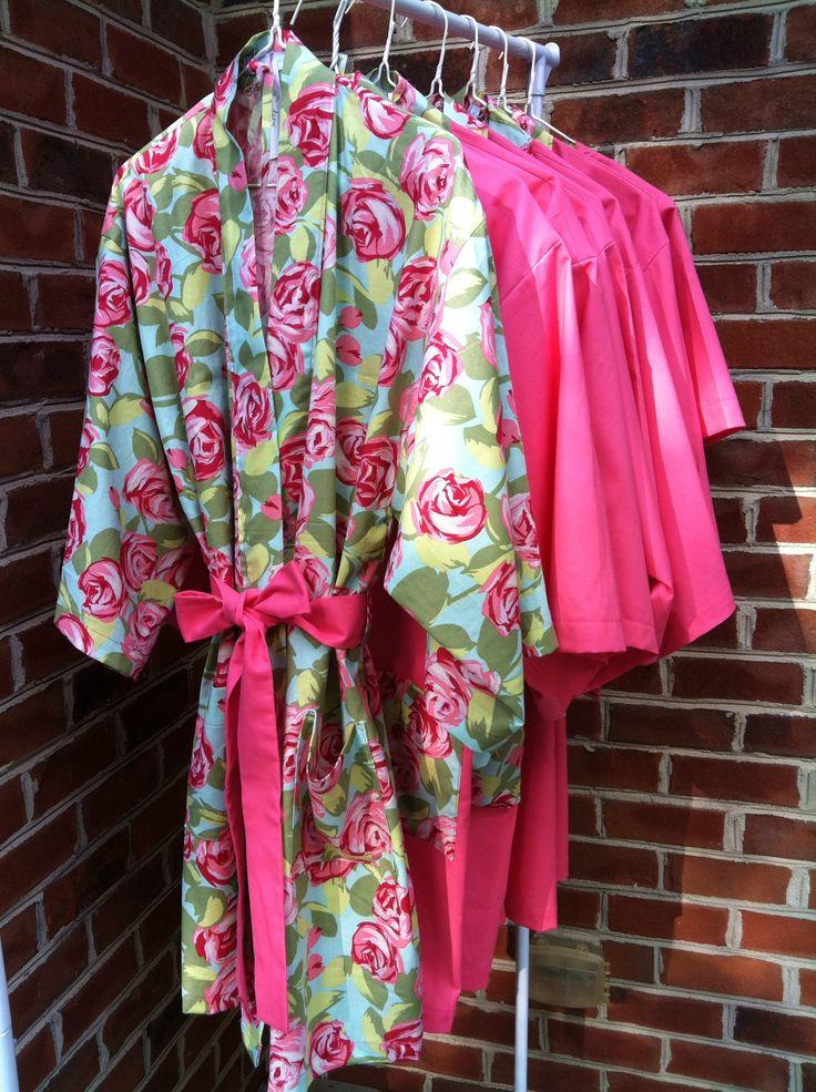 Custom Lilly Pulitzer Bride & Bridesmaids Robes by Belles of Cotton, shop bellesofcotton.com