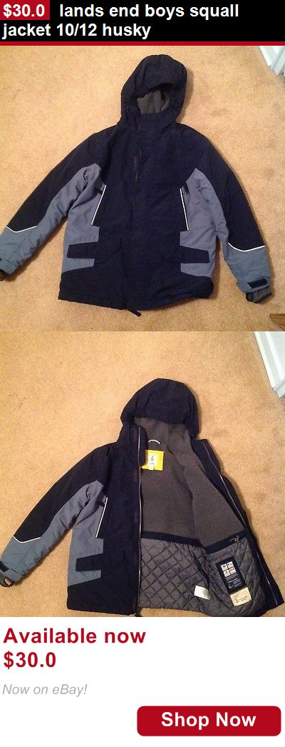 Boys uniforms: Lands End Boys Squall Jacket 10/12 Husky BUY IT NOW ONLY: $30.0