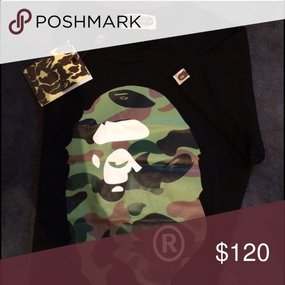 A bathing ape fresh T-shirt BRAND NEW a bathing ape!! Camo big ape tee; fast shipping a bathing ape Shirts Tees - Short Sleeve