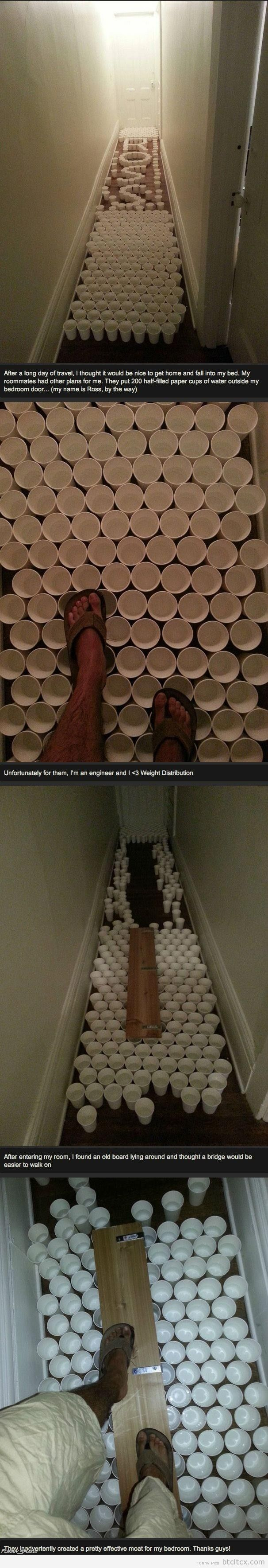 out engineering the roomates | Funny Pictures