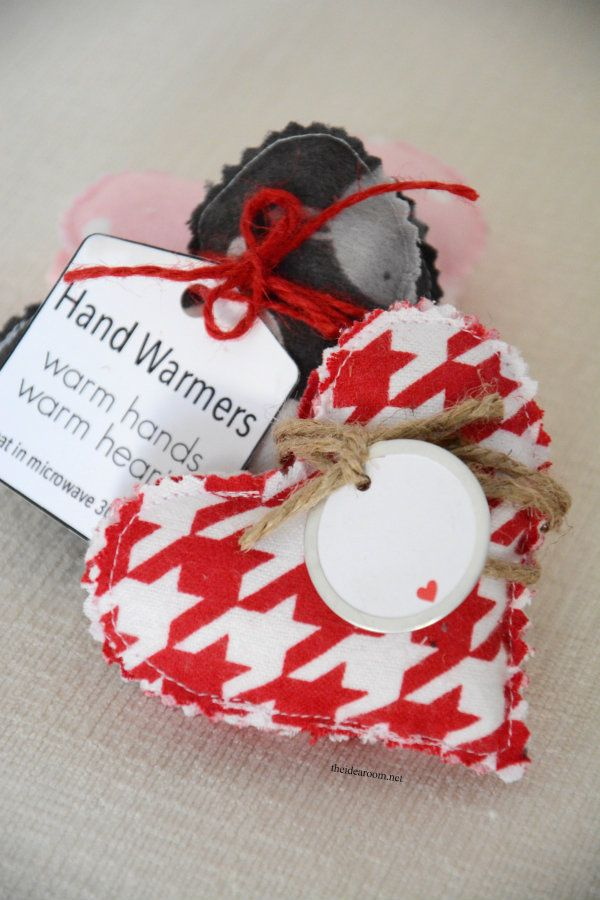 DIY Hand Warmers -to heat microwave 30 seconds. can also freeze for kids little bumps and bruises anytime....