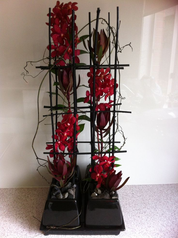 Made by Jodi for boxhill floral art society red theme