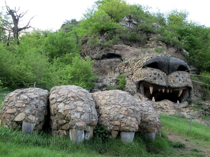 This massive sculpture of a lion emerging from the hillside is next to the Hotel Tsovin Kar near Vank, Republic of Nagorno Karabakh.