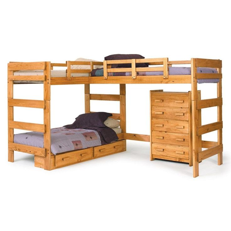 shop chelsea home lshaped loft bed with optional underbed storage at the mine