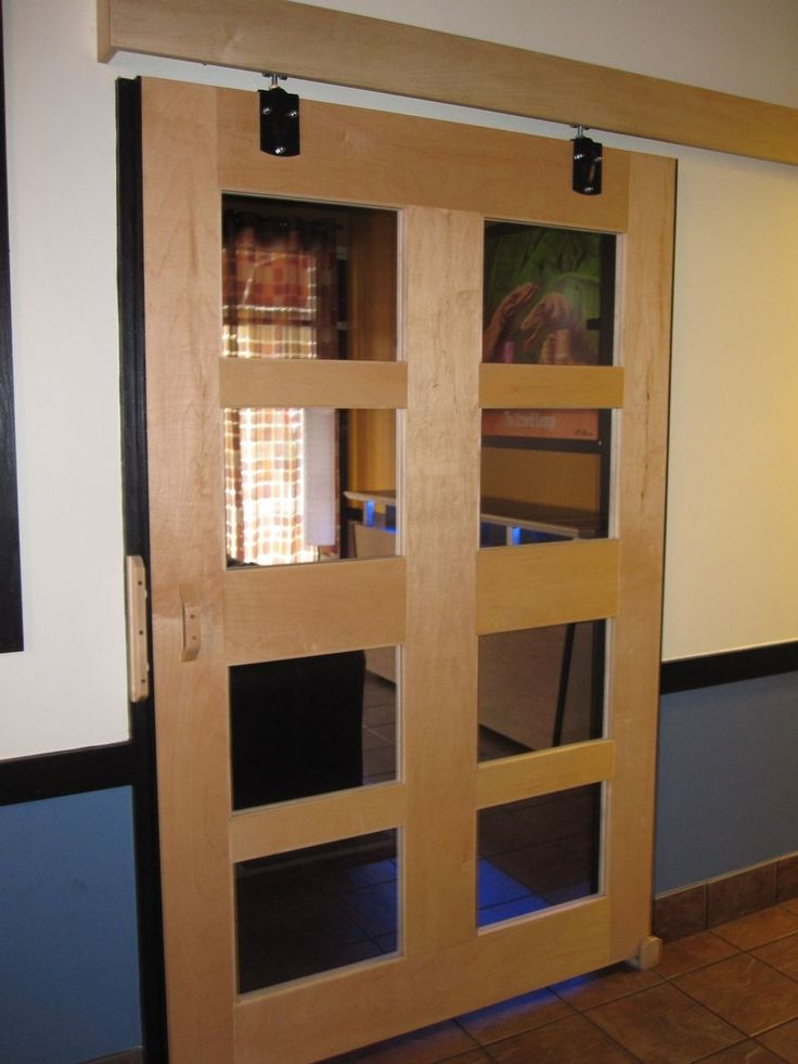 31 best images about barn doors with glass lites on for Barn doors over sliding glass doors